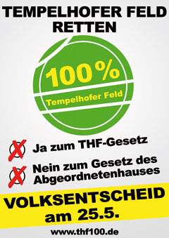 Ja zu 100% Tempelhofer Feld