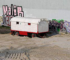 Sand für die Strandbar