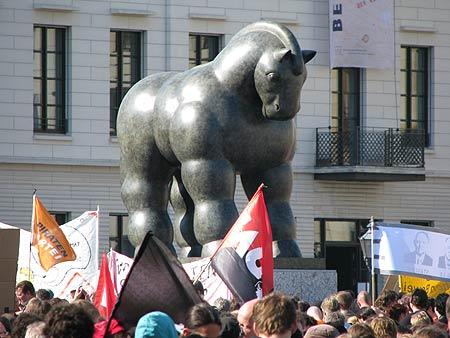 Botero-Statue am Pariser Platz