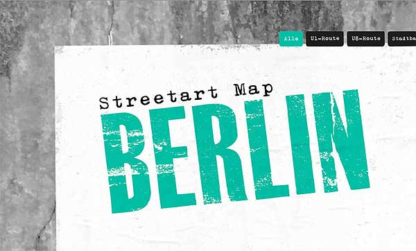 Streetart-Map Berlin