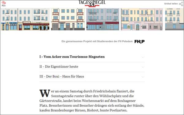 Screenshot Tagesspiegel