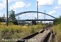Modersohnbrücke von unten