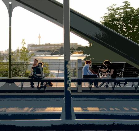 Paare auf der modersohnbrücke