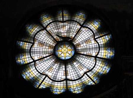 Rosettenfenster der Zwingli-Kirch