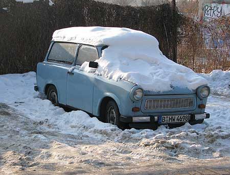 Trabbi im Schnee
