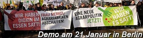 Demo gegen Massentierhaltung
