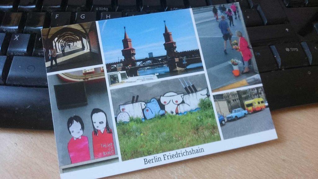 Berlin-Postkarte aus eigenen Fotos